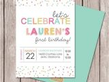 Sprinkle First Birthday Invitations Best 25 Girl Birthday Invitations Ideas On Pinterest