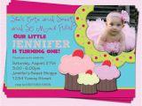 Sprinkle First Birthday Invitations Cupcake Birthday Invitation Girl First Birthday Party by