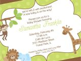 Sprinkle First Birthday Invitations Jungle Baby Shower Invitation Jungle First Birthday