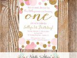 Sprinkle First Birthday Invitations Pink Confetti Dots Sprinkles First Birthday Invitation