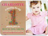 Sprinkle First Birthday Invitations Sprinkle First Girl 5×7 1st Birthday Invitation