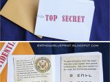 Spy Birthday Party Invitation Template Free Birthday Blueprint Spy Party