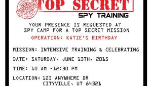 Spy Birthday Party Invitation Template Free Printable Spy Party Invitations the O 39 Jays Birthdays