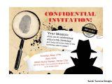 Spy Birthday Party Invitation Template Free Secret Agent Spy Birthday Party Invitation Customized