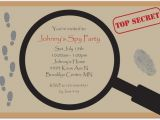 Spy Birthday Party Invitation Template Free Spy Party Invitation Templates