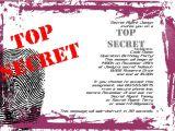 Spy Birthday Party Invitation Template Free top Secret Party Invitations Cimvitation