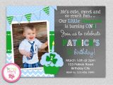 St Patrick S Day Birthday Invitations Boys St Patrick S Day Birthday Invitation St