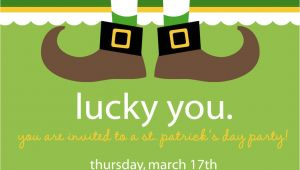 St Patrick S Day Birthday Invitations Lucky St Patrick S Day Party Invitation by Nattysuedesigns1
