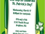 St Patrick S Day Birthday Invitations St Patrick S Day Derby Invitation