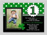 St Patrick S Day Birthday Invitations St Patricks Day Birthday Invitation 1st Birthday St Patricks