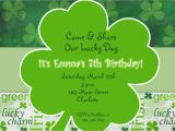 St Patrick S Day Birthday Invitations St Patricks Day Party Birthday Invitation St Patricks Day
