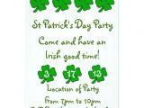 St Patrick S Day Party Invitations St Patrick S Day Party Invitation Customizable