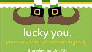 St Patrick S Day Party Invitations St Patrick S Day Party Invitation Love the Dangling Feet