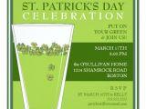 St Patrick S Day Party Invitations St Patricks Day Celebration Party Pint Invitation