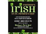 St Patty S Day Birthday Invitations Argyle St Patricks Day Party Invitations