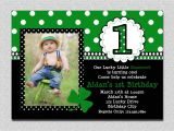 St Patty S Day Birthday Invitations St Patricks Day Birthday Invitation 1st Birthday St