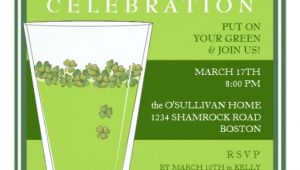 St Patty S Day Birthday Invitations St Patricks Day Celebration Party Pint Invitation