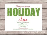 Staff Christmas Party Invite Holiday Party Invitation 8 Design Template Sample