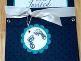 Stampin Up Baby Shower Invitations Country Girl Stampin Baby Shower Invitations