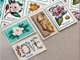 Stamps for Wedding Invites Vintage Postage for Wedding Invitations Weddinglovely Blog