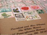 Stamps for Wedding Invites Vintage Postage Stamps for Wedding Invitations Tiffany