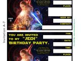Star Wars Birthday Party Invitation Template Star Wars Birthday Invitation Template Oxsvitation Com