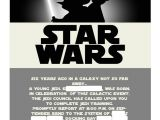 Star Wars Birthday Party Invitation Template Star Wars Invitation Template Best Template Collection