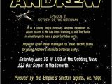 Star Wars themed Party Invitations Free Printable Star Wars Birthday Party Invitations