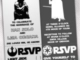 Star Wars themed Wedding Invitations May the Fourth Black and White Star Wars Wedding