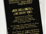 Star Wars themed Wedding Invitations Star Wars Wedding Invitation theme Printable Download