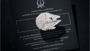 Star Wars themed Wedding Invitations Star Wars Wedding Invitation Trumps All Other Invitations
