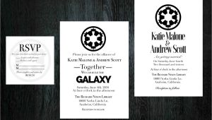 Star Wars Wedding Invitation Template Star Wars Wedding Invitation Rsvp Set