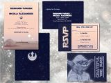 Star Wars Wedding Invitations Star Wars Wedding Invitation Set Digital Custom Invitations