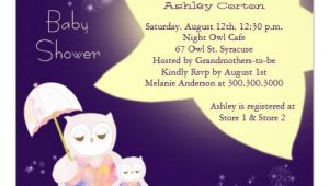 Starry Night Baby Shower Invitations Starry Night Mom & Baby Owls Baby Shower Invites 5 25