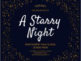 Starry Night Party Invitations Starry Night Prom Invitation Templates by Canva