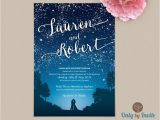 Starry Night Party Invitations Starry Night Wedding Invitation and Rsvp Set by Onlybyinvite