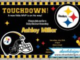 Steelers Party Invitations Custom Pittsburgh Steelers Baby Shower Invitations