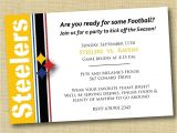 Steelers Party Invitations Items Similar to Pittsburgh Steelers Football Party