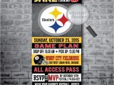 Steelers Party Invitations Pittsburg Steelers Football Birthday Party Invitations Di