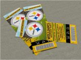 Steelers Party Invitations Pittsburgh Steelers Birthdays and Ticket Invitation On