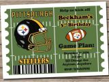 Steelers Party Invitations Pittsburgh Steelers Football Invitation Football Birthday