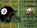 Steelers Party Invitations Pittsburgh Steelers Football Invitation or Thank You Card