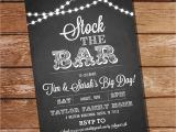 Stock the Bar Party Invitation Wording Chalkboard Stock the Bar Engagement Party Invitation Stock
