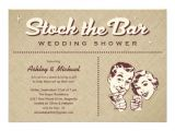 Stock the Bar Party Invitation Wording Retro Stock the Bar Party Invitations 5 Quot X 7 Quot Invitation