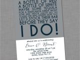 Stock the Bar Party Invitation Wording Stock the Bar Invitation Wedding Bridal Colorblock