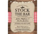 Stock the Bar Party Invitation Wording Stock the Bar Rustic Party Engagement Invitation Zazzle