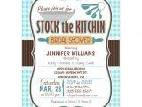Stock the Kitchen Bridal Shower Invitations Gingham Stock the Kitchen Bridal Shower Invitation