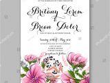 Stock Vector – Wedding Invitation Template 14 Wedding Invitation Card Template Yellow Rose Stock Vector