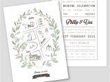 Stock Vector – Wedding Invitation Template 14 Wedding Invitation Template with Map Royalty Free Vector