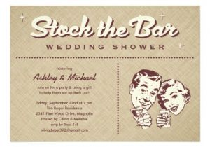 Stock Your Bar Party Invitations Retro Stock the Bar Party Invitations Zazzle